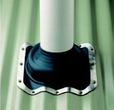 Vízzáró harang 125 - 230 csőátmérőhöz 363 x 363 mm csavarral rögzíthető kivitel tömítőanyaggal