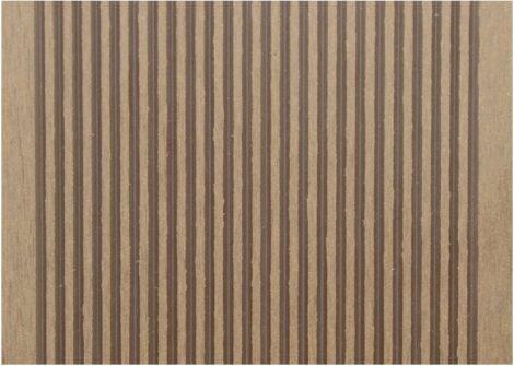 WPC padlólap 3 méteres szál 2,5x14x300 cm, Fahatású diófa burkolat Matt, csúszásmentes felület