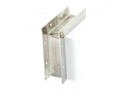 WPC padló lépcső profil külső sarok rozsdamentes anyagból