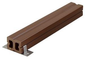 Párnafa WPC 3 méteres szál 4x3x300 cm Fahatású barna színű Mindenféle színű WPC alá.