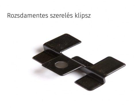 WPC padlólap rögzítő fül rozsdamentes inox klipsz 2 vagy 4 mm padlólap távolsághoz