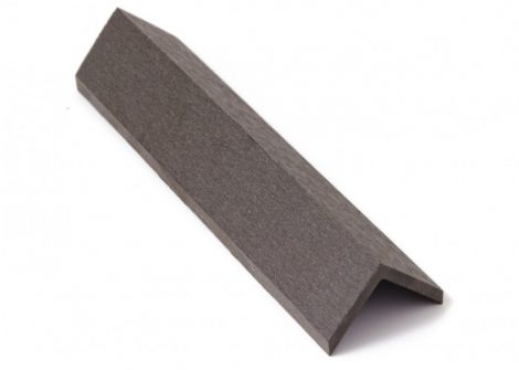 Élzáró WPC padlólap sarokléc 4,5x4,5x300 cm Fahatású Ébenfa takaróléc