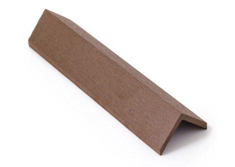 Élzáró WPC padlólap sarokléc 4,5x4,5x300 cm Fahatású indiai teak takaróléc