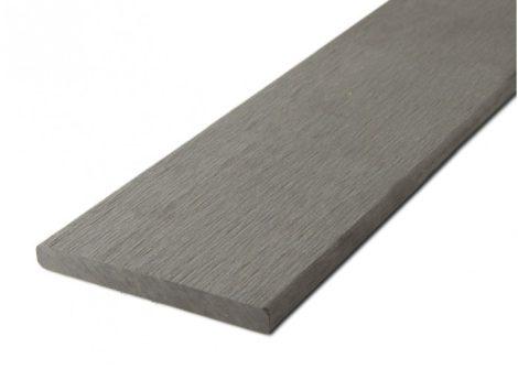 Takaróléc WPC padlólap 0,9x9x200 cm Fahatású Ébenfa élzáró