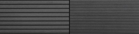 WPC padlólap 2,2 méteres szál 146x24x2200 mm Fahatású kétoldalas szürke grafit burkolat.