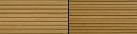 WPC padlólap 2,2 méteres szál 146x24x2200 mm Fahatású kétoldalas világosbarna Teak burkolat.