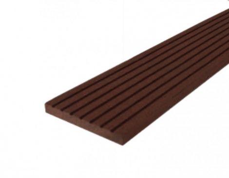 WPC léc 63x10x2200 oldatakaró léc sötétbarna Mahagóni színű 2,2 méteres szál