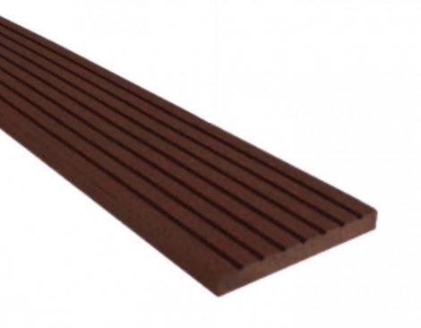 WPC léc 80x10x2200 oldatakaró léc sötétbarna Mahagóni színű 2,2 méteres szál