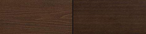 WPC padlólap Woodlook Natúr típus, 4 méteres szál 150x24x2000 mm igazi fahatású kétoldalas barna Mah