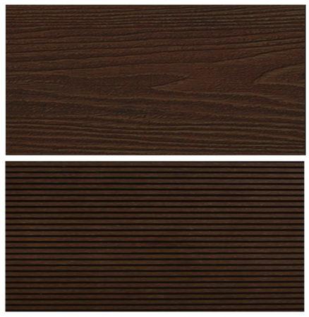 WPC padlólap Woodlook Natúr típus, 4 méteres szál 150x24x4000 mm igazi fahatású kétoldalas barna Mah