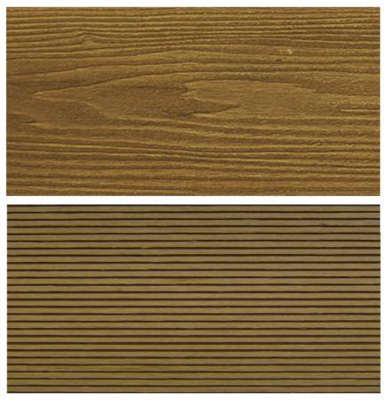 WPC padlólap Woodlook Natúr típus, 4 méteres szál 150x24x4000 mm igazi fahatású kétoldalas Teak