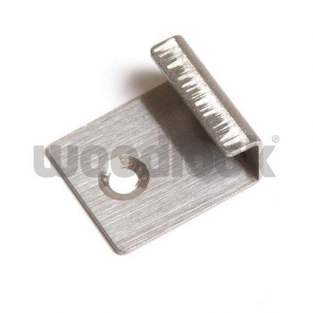 WPC padlólap kezdő rögzítő fül rozsdamentes inox