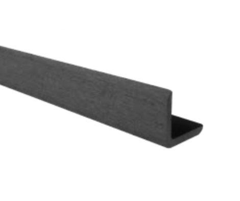 WPC sarokléc 35x48x2200 mm sötétszürke Antracit színű 2,2 méteres szál Méterenkénti ár! WoodLook
