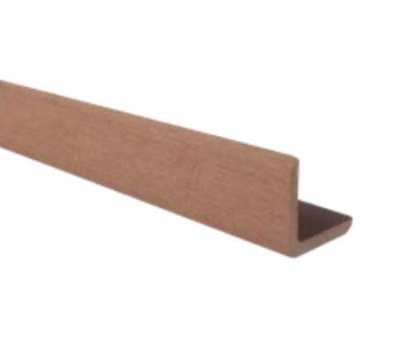 WPC sarokléc 35x48x2200 mm merbau színű 2,2 méteres szál Méterenkénti ár! WoodLook