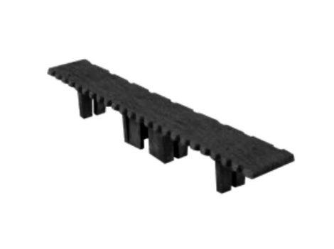 WPC padlólap záródugó 146x24 mm sötétszürke Antracit WoodLook Standard végzáró