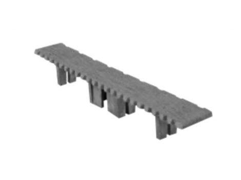 WPC padlólap záródugó 146x24 mm szürke Grafit WoodLook Standard végzáró