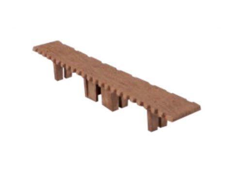 WPC padlólap záródugó 146x24 mm barna Merbau WoodLook Standard végzáró