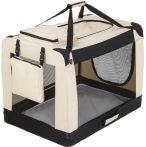 Kutyatáska összehajtható XXL méretű összecsukható hordozó táska kutya, cica számára kényelmes