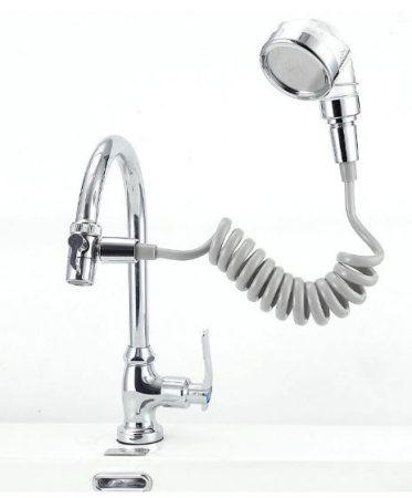 Zuhanyfej csapra ezüst szürke színben 1,5 méter hosszúság