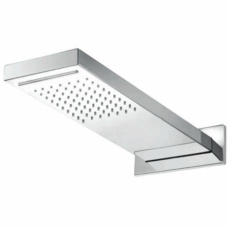 Zuhanyfej falra szerelhető szögletes 50 cm hosszú rozsdamentes esőztetős vízkő mentes