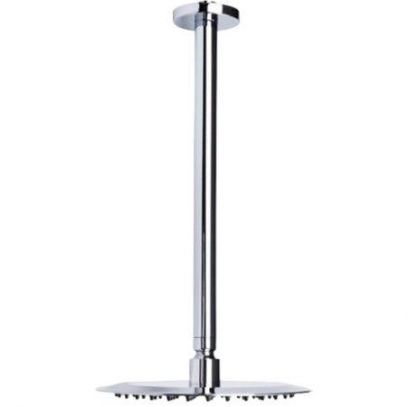 Zuhanyfejtartó mennyezetre kerek, 36 cm hosszú esőztető zuhanyzófejhez Zuhanyrózsa tartó cső