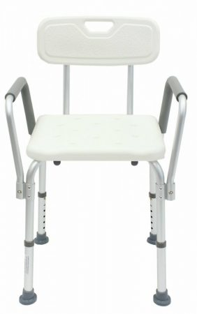 Zuhany állítható magasságú aluminium karfás szék szögletes zuhanyozó fürdő szék  pad ülés