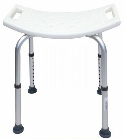Zuhany állítható magasságú aluminium szék szögletes zuhanyozó fürdő szék  pad ülés