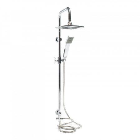 Zuhanyszett esőztetős zuhanyfej 200x200 mm falra szerelhető tartozék kézi zuhanyfej átváltócsappal