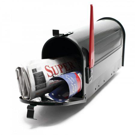 Amerikai stílusú postaláda fekete színben rendelhető levél újság tartó