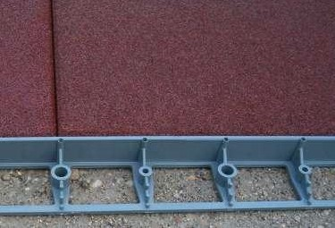 Műanyag szegély L profil szegély elem gumilapokhoz