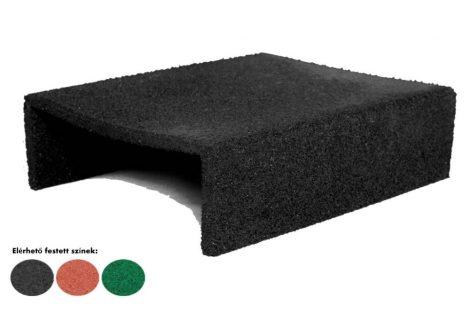 Gumi homokozó U profil gumi szegély elem több színben 500x400x150mm
