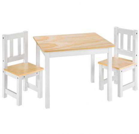 Gyerek fa kerti pad piknik asztal piros