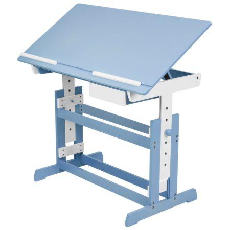 Íróasztal gyerek kék - fehér  gyerekebútor játéktartó vagy irattartó