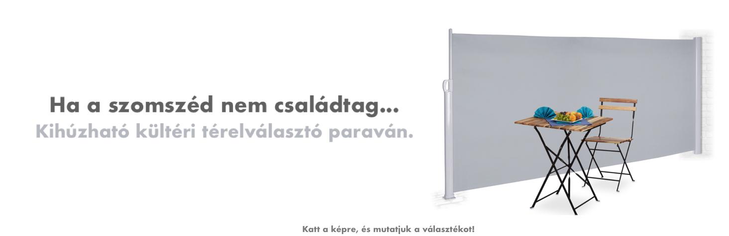 Hazravaló Webáruház banner esővédő előtető